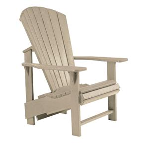 C.R. Plastic Products Adirondack - Beige Adirondack Upright Chair