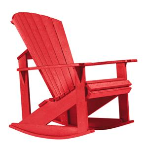 C.R. Plastic Products Adirondack - Red Addy Rocker