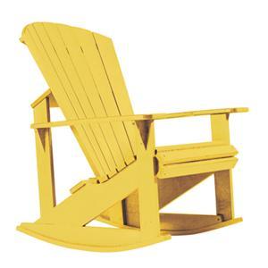 C.R. Plastic Products Adirondack - Yellow Addy Rocker