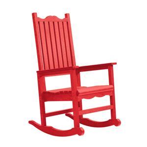 C.R. Plastic Products Adirondack - Red Porch Rocker