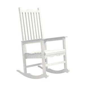 C.R. Plastic Products Adirondack - White Porch Rocker