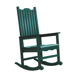 C.R. Plastic Products Adirondack - Green Porch Rocker
