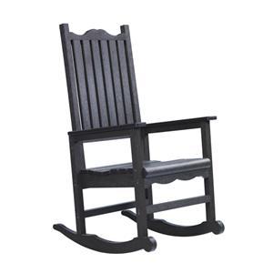 C.R. Plastic Products Adirondack - Black Porch Rocker