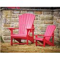 C.R. Plastic Products Adirondack - Black Kid's Adirondack Chair