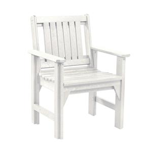C.R. Plastic Products Adirondack - White Dining Arm Chair