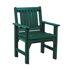 C.R. Plastic Products Adirondack - Green Dining Arm Chair
