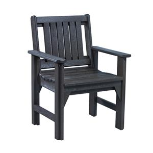 C.R. Plastic Products Adirondack - Black Dining Arm Chair