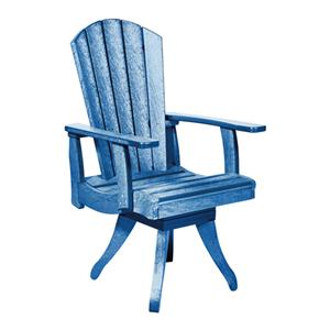 C.R. Plastic Products Adirondack - Blue Swivel Dining Arm Chair