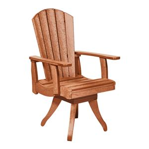 C.R. Plastic Products Adirondack - Cedar Swivel Dining Arm Chair