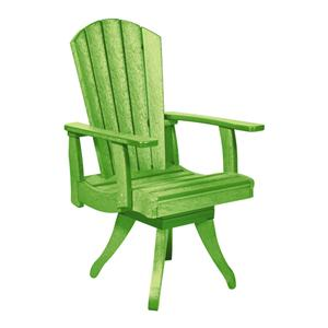 C.R. Plastic Products Adirondack - Kiwi Swivel Dining Arm Chair