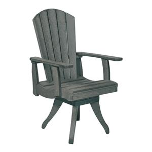 C.R. Plastic Products Adirondack - Slate Swivel Dining Arm Chair
