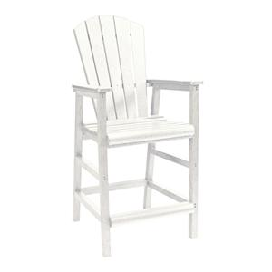 C.R. Plastic Products Adirondack - White Pub Pedestal Chair