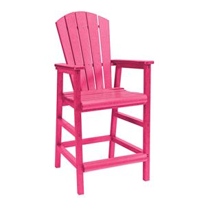 C.R. Plastic Products Adirondack - Fuschia Pub Pedestal Chair