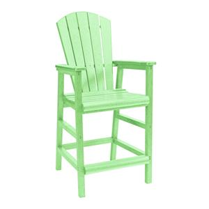 C.R. Plastic Products Adirondack - Lime Pub Pedestal Chair