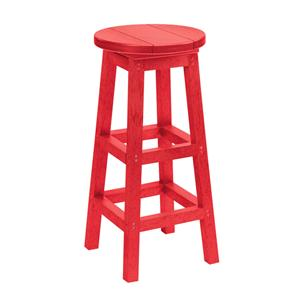 C.R. Plastic Products Adirondack - Red Bar Stool
