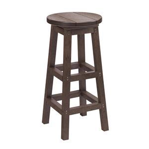 C.R. Plastic Products Adirondack - Chocolate Bar Stool