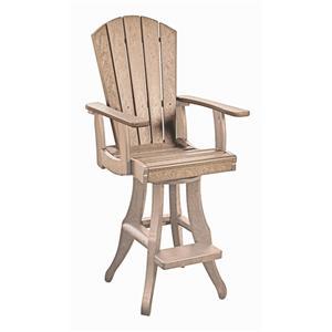 C.R. Plastic Products Adirondack - Beige Swivel Arm Pub Chair