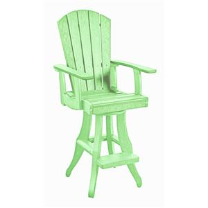 C.R. Plastic Products Adirondack - Lime Swivel Arm Pub Chair