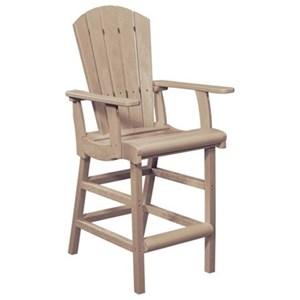 C.R. Plastic Products Adirondack - Beige Pub Chair