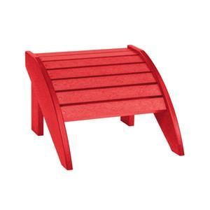 C.R. Plastic Products Adirondack - Red Footstool