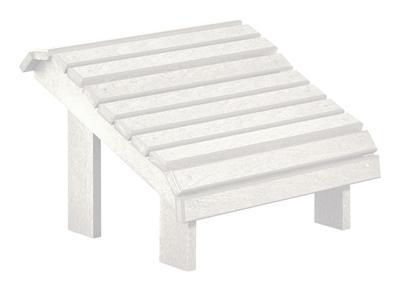 C.R. Plastic Products Adirondack - White Footstool - Item Number: F04-02