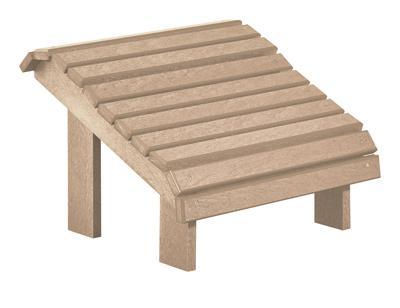 C.R. Plastic Products Adirondack - Beige Footstool - Item Number: F04-07