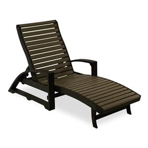 C.R. Plastic Products Adirondack - Chocolate Outdoor Chaise Lounge
