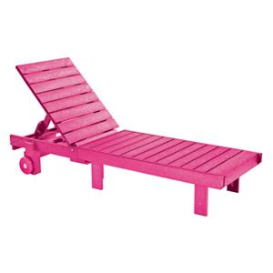 C.R. Plastic Products Adirondack - Fuschia Chaise Lounger