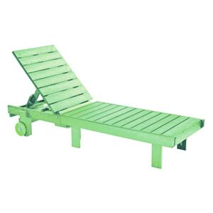 C.R. Plastic Products Adirondack - Lime Chaise Lounger