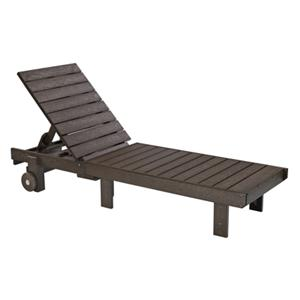 C.R. Plastic Products Adirondack - Chocolate Chaise Lounger