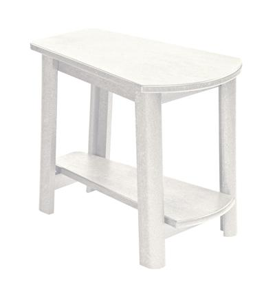 C.R. Plastic Products Adirondack - White Addy Side Table - Item Number: T04-02