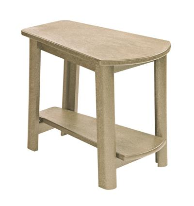 C.R. Plastic Products Adirondack - Beige Addy Side Table - Item Number: T04-07