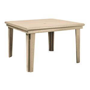 C.R. Plastic Products Adirondack - Beige Square Dining Table