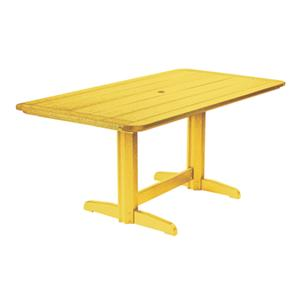 C.R. Plastic Products Adirondack - Yellow Rectangle Dining Table