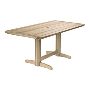 C.R. Plastic Products Adirondack - Beige Rectangle Dining Table