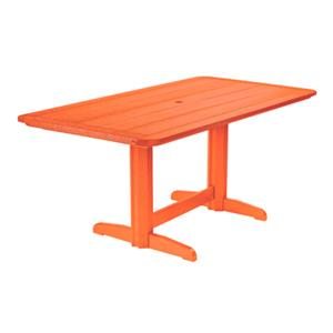 C.R. Plastic Products Adirondack - Orange Rectangle Dining Table