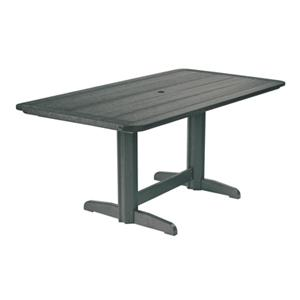 C.R. Plastic Products Adirondack - Slate Rectangle Dining Table