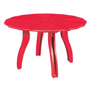 "C.R. Plastic Products Adirondack - Red 52"" Scalloped Round Table"