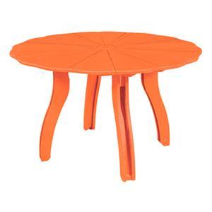 "C.R. Plastic Products Adirondack - Orange 52"" Scalloped Round Table"