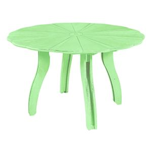 "C.R. Plastic Products Adirondack - Lime 52"" Scalloped Round Table"
