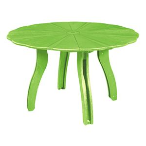 "C.R. Plastic Products Adirondack - Kiwi 52"" Scalloped Round Table"