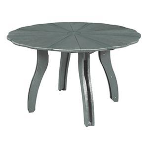 "C.R. Plastic Products Adirondack - Slate 52"" Scalloped Round Table"