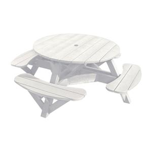 C.R. Plastic Products Adirondack - White Picnic Table