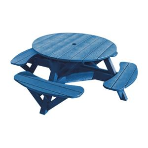 C.R. Plastic Products Adirondack - Blue Picnic Table