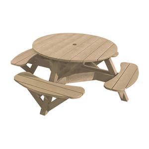 C.R. Plastic Products Adirondack - Beige Picnic Table