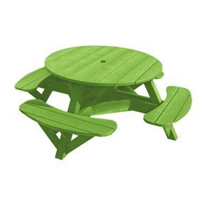 C.R. Plastic Products Adirondack - Kiwi Picnic Table