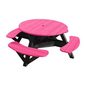 C.R. Plastic Products Adirondack - Fuschia Picnic Table