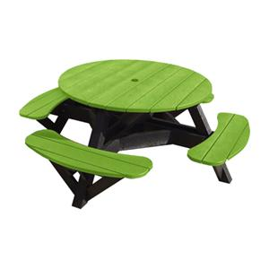 C.R. Plastic Products Adirondack - Kiwi Picnic Table