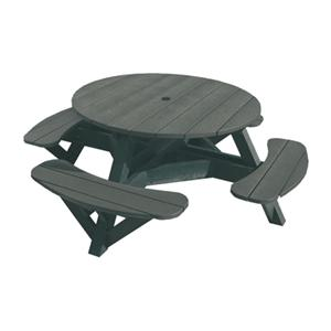 C.R. Plastic Products Adirondack - Slate Picnic Table