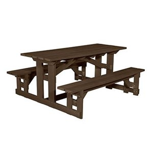 C.R. Plastic Products Generation Line Rectangular Picnic Table